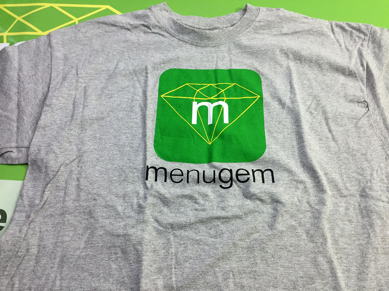 MenuGem Mens T-shirt Heather Grey XLarge