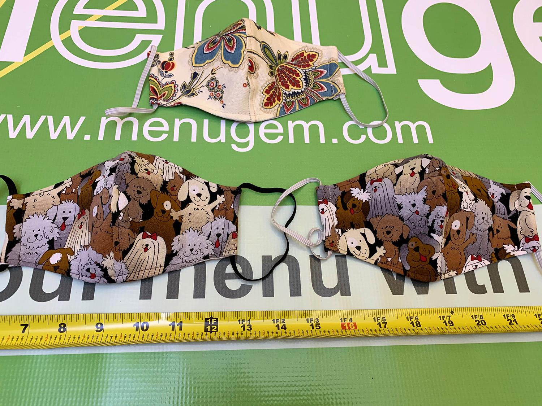MenuGem Standard Mask 3 Pack - 2 Dogs 1 Floral