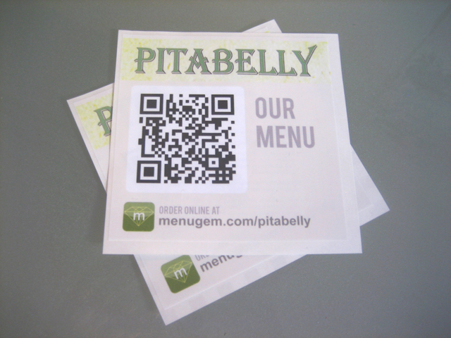 MenuGem QR Code Window Decal
